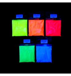 Fluorescent luminescent glow in the dark additive pigment powder