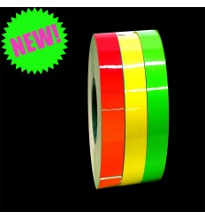 Fluorescent adhesive strips in 3 colors, width 7 mm x 6 m