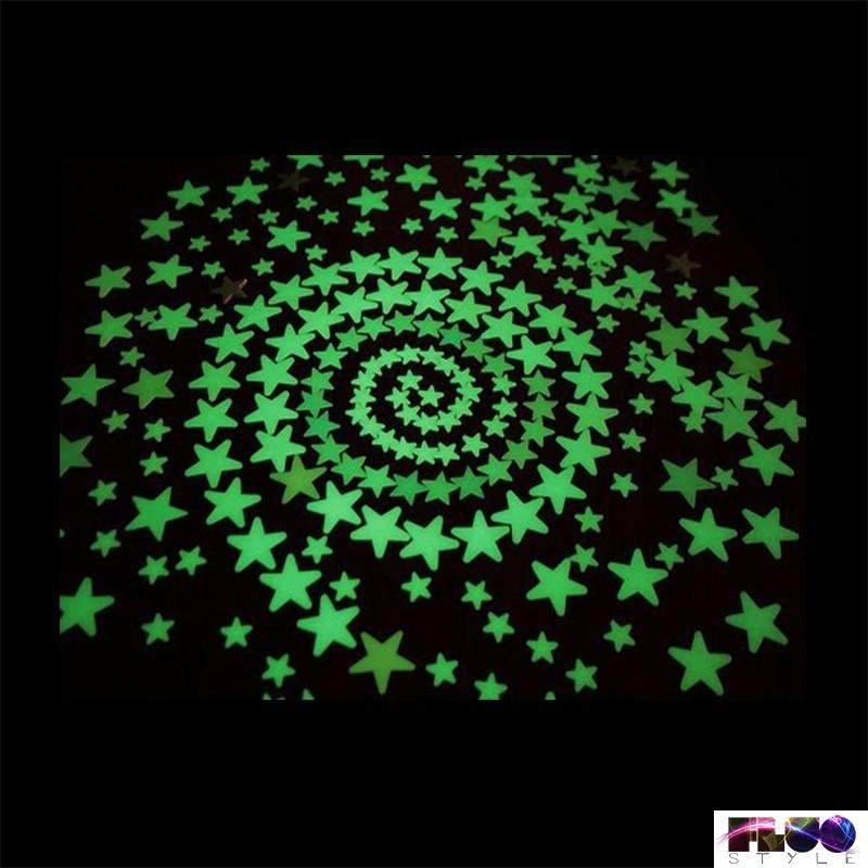 Stelle fluorescenti adesive che si illuminano al buio da attaccare al soffitto.