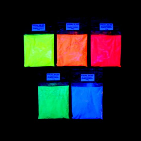 Luminescent powder additive fluoroscente pigment that glows in the dark