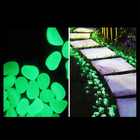 Fluorescent phosphorescent glow in the dark green plastic stones