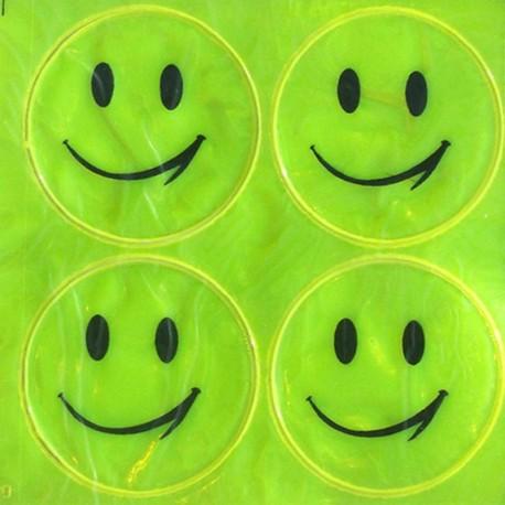 Adesivo Faccina Smile sorridente Rifrangente per essere visti di notte