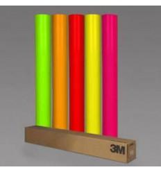 Strisce adesive fluorescenti in 4 colori, larghezza 25/50mm x 5 metri