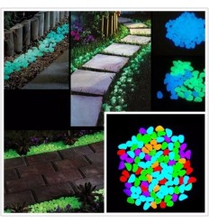 Fluorescent phosphorescent glow in the dark plastic stones