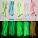 Fluorescent phosphorescent glow in the dark shoelaces