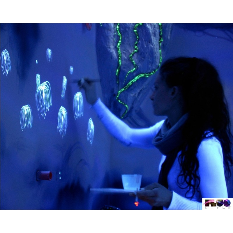 Vernici Fluorescenti Per Pareti.Vernice Resinata Fotoluminescente Fosforescente Per Superfici Rugose