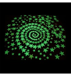 Fluorescent phosphorescent brights glow in the dark stars