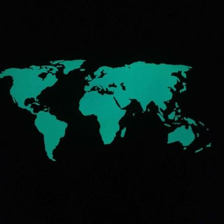 Mappa del mondo fluorescente fosforescenti adesiva che si illumina al buio