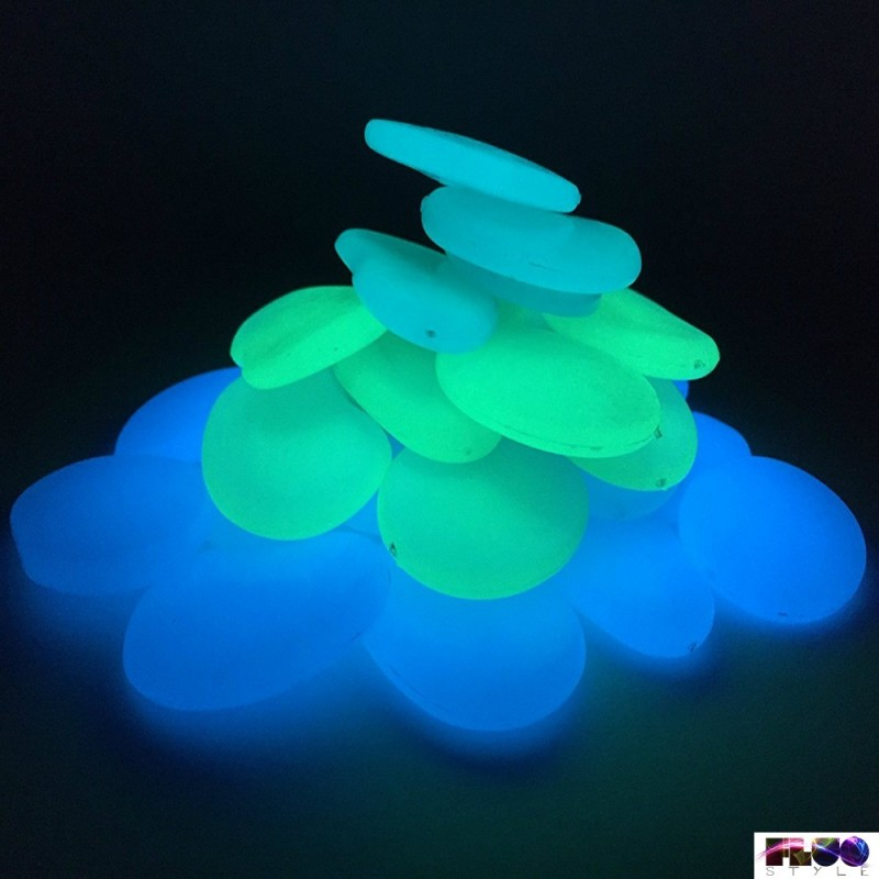 Photo Luminescent Fluorescent Glow In The Dark Glass Buttons