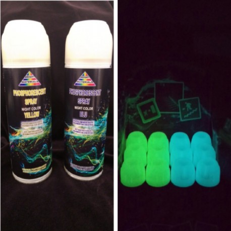 Phosphorescent luminescent glow in the dark spray paint