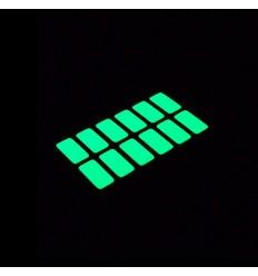 Adesivi rettangolari per l'interruttore della luce fluorescenti fosforescenti che si illuminano al buio