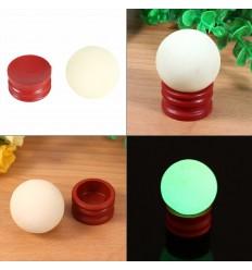 5 pezzi in calcite a forma di uovo fosforescenti fotoluminescenti si illuminano al buio