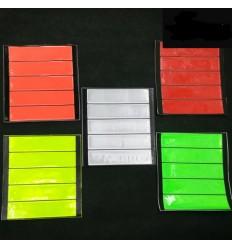Strisce fluorescenti e rifrangenti adesive plastificate per sicurezza notturna