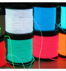 1M Stripe LED luminoso El Wire semi rigido per formare figure
