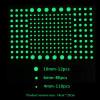 202 Stelline/puntini fluorescenti fosforescenti adesive che si illuminano al buio